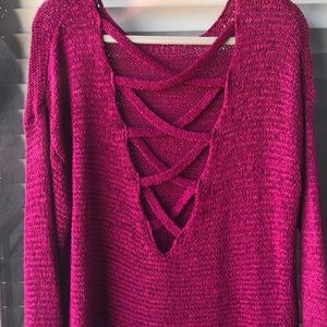 F21 Sweater w/Detail on Back